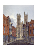 View of the West End of Westminster Abbey, Looking from Tothill Street, London, C1815 Giclee Print by William Pearson