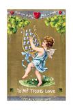 To My True Love, American Valentine Card, C1910 Giclee Print