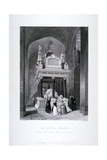 Queen Elizabeth I's Tomb, Henry VII Chapel, Westminster Abbey, London, C1840 Giclee Print by William Radclyffe