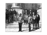 Heralds at the Mansion House Proclaiming the Queen as Empress of India, London, May 1876 Giclee Print by William Barnes Wollen