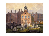 St Marylebone Old Church, London, C1815 Giclee Print by William Pearson