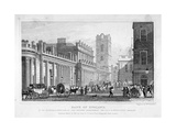 The Bank of England, City of London, 1827 Giclee Print by William Tombleson