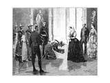 The Queen Receiving the Burmese Embassy, Mid-Late 19th Century Giclee Print by William Barnes Wollen