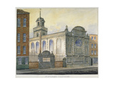 South-East View of the Church of St Stephen, Coleman Street, City of London, 1815 Giclee Print by William Pearson