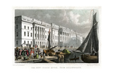 The New Custom House, from Billingsgate, City of London, C1830 Giclee Print by William Tombleson