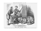 The New Year's Gift, 1858 Giclee Print by John Tenniel
