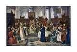 Jan Hus before the Council of Constance, 1415 Giclee Print by Vaclav Brozik