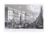 View of Custom House from Billingsgate, London, 1828 Giclee Print by William Tombleson