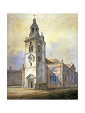 Church of St Mary, Whitechapel, London, C1815 Giclee Print by William Pearson