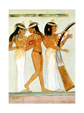 Ancient Egyptian Musicians and a Dancer, 1910 Giclee Print by Walter Tyndale