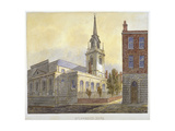 Church of St Lawrence Jewry from Guildhall Yard, City of London, 1810 Giclee Print by William Pearson