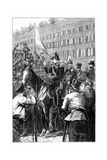 The King of Prussia Addressing the Berliners, 1848 Giclee Print by William Barnes Wollen