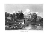Hampton House, the Seat of Mr Garrick, Hampton, Richmond Upon Thames, London, 1815 Giclee Print by William Radclyffe