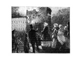 Fire in the Prince of Wales's Tower, Windsor Castle, C1850S Giclee Print by William Barnes Wollen