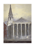 Church of St George, Hart Street, Bloomsbury, London, C1815 Giclee Print by William Pearson