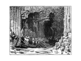 The Royal Visit to Fingal's Cave, Staffa, Scotland, 1847 Giclee Print by William Barnes Wollen