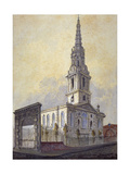 Church of St Giles in the Fields, Holborn, London, C1815 Giclee Print by William Pearson