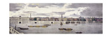 Proposed View of the River Thames, London, 1825 Giclee Print by Thomas Mann Baynes