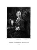 Richard Boyle, 3rd Earl of Burlington, English Patron of the Arts Giclee Print by WT Mote