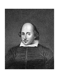 William Shakespeare, English Poet and Playwright Giclee Print by William Thomas Fry