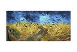 Crows over Wheatfield, 1890 Giclee-trykk av Vincent van Gogh