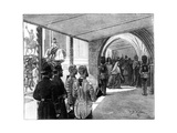 The Opening of Parliament, Westminster, London, 1866 Giclee Print by William Barnes Wollen