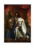 Louis XIV, King of France, 1701 Giclee Print by Hyacinthe Rigaud