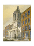 North-East View of the Church of St Peter-Le-Poer and Old Broad Street, City of London, 1815 Giclee Print by William Pearson