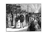 Royal and Imperial Visit to the Crystal Palace, 1850S Giclee Print by William Barnes Wollen