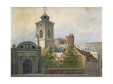 View of the Church of St Olave, Hart Street, from Seething Lane, City of London, 1815 Giclee Print by William Pearson