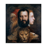 Allegory of Prudence, C1565-1570 Giclée-tryk af  Titian (Tiziano Vecelli)