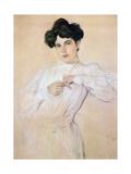 Portrait of Maria Botkina, 1905 Giclee Print by Valentin Serov