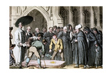 Dr Syntax Watching His Wife's Coffin Being Lowered into the Grave, 1820 Giclee Print by Thomas Rowlandson