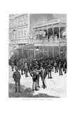 Speculators on the Corner, Ballarat, Australia, 1886 Giclee Print by William Thomas Smedley