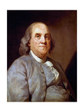 Benjamin Franklin, American Statesman, Printer and Scientist, 1778 Giclee Print