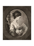 Miss Stephenson, Late 18th Century Giclee Print by W Dickinson