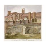 Remains of London Wall in the Churchyard of St Giles Without Cripplegate, City of London, 1825 Giclee Print by Valentine Davis