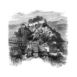 The Castle of Lourdes, France, 19th Century Giclee Print by  Whymper