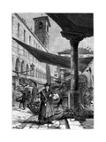 Rialto Fruit Market, Venice, Italy, 19th Century Giclee Print by  Whymper