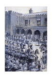 The Proclamation of Queen Victoria at St James's Palace, Westminster, London, 1837 Giclee Print by William Heysham Overend