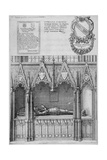 Tomb of Simon Burley in Old St Paul's Cathedral, City of London, 1656 Giclee Print by Wenceslaus Hollar