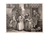 Innocence Betrayed, or the Journey to London, Plate I of the Harlot's Progress, 1732 Giclee Print by William Hogarth