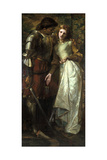 Ophelia and Laertes (Or Ophelia Here Is Rosemary), 1879 Giclee Print by William Gorman Wills
