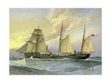 HMS Thrush, British 1st Class Gunboat, C1890-C1893 Giclee Print by William Frederick Mitchell