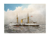 HMS Colossus, Royal Navy 2nd Class Battleship, C1890-C1893 Giclee Print by William Frederick Mitchell