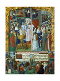 Scenes from the Life of Louis Ix, King of France, 13th Century Giclee Print