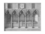 Tombs of Two Bishops of London in Old St Paul's Cathedral, City of London, 1656 Lámina giclée por Wenceslaus Hollar