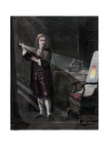 Newton Investigating Light, 1870 Giclee Print by William Mouat Loudan