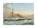 HMS Victoria, Royal Navy 1st Class Battleship, C1890-C1893 Giclee Print by William Frederick Mitchell