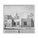 South-East Prospect of the Church of St Peter-Le-Poer, City of London, 1736 Giclee Print by William Henry Toms